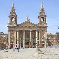 Buy canvas prints of St Publius Church, Floriana, Malta by Carole-Anne Fooks