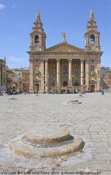 St Publius Church, Floriana, Malta Canvas print by Carole-Anne Fooks
