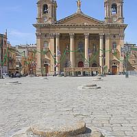 Buy canvas prints of St Publius Church, Floriana, Malta by Carole-Anne Fooks