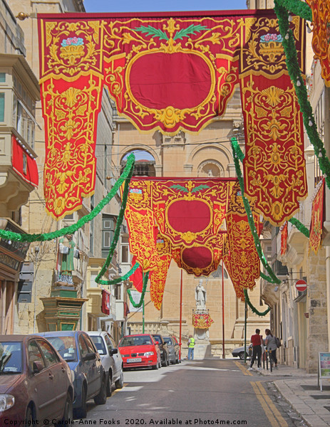 Floriana, Valletta, Malta Canvas print by Carole-Anne Fooks