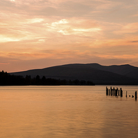 Buy canvas prints of Loch Lomond Sunset by Dave Wragg