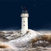 Buy canvas prints of T`was on a night like this. (stormy sea) by Rob Lester