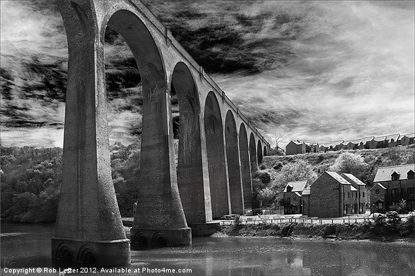 Larpool Viaduct, River Esk. Canvas print by Rob Lester