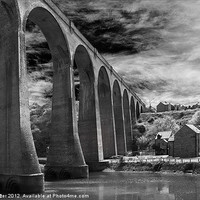 Buy canvas prints of Larpool Viaduct, River Esk. by Rob Lester