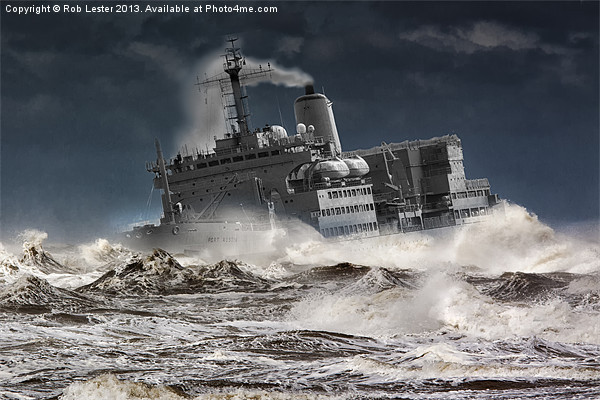 """RFA. Fort Austin """" Facing the storm"""" Canvas print by Rob Lester"""