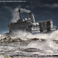 """Buy canvas prints of RFA. Fort Austin """" Facing the storm"""" by Rob Lester"""