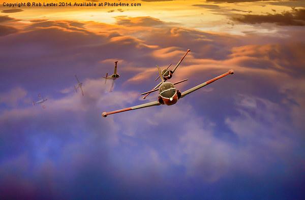 Jet Provosts Canvas print by Rob Lester