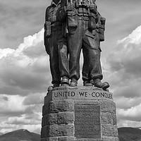 Buy canvas prints of Commando Memorial, Spean Bridge>mono by Rob Lester