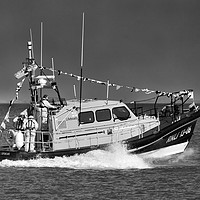 Buy canvas prints of Hoylake Lifeboat at speed_mono by Rob Lester