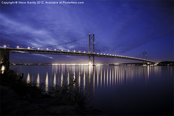 The Forth Road Bridge in Scotland at dusk Canvas print by Steve Garrity