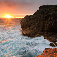 Buy canvas prints of Porth Nanven Sunset by James Gilpin