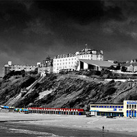 Buy canvas prints of Bournemouth Beach and the West Cliff by Andrew Evans