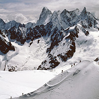 Buy canvas prints of Chamonix Mont Blanc Massif France by Andrew Evans