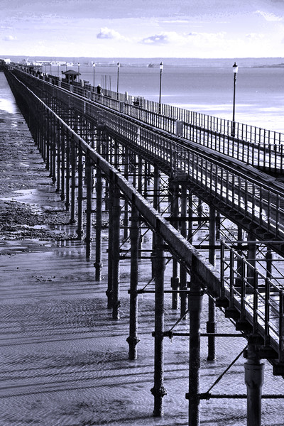 Southend on Sea Pier Essex England Framed Mounted Print by Andrew Evans