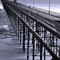 Buy canvas prints of Southend on Sea Pier Essex England by Andrew Evans