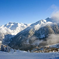Buy canvas prints of Courchevel 1850 3 Valleys French Alps France by Andrew Evans