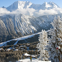 Buy canvas prints of Courchevel 1850 3 Valleys French Alps France by Andy Evans
