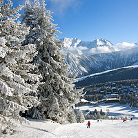 Buy canvas prints of Courchevel 1850 3 Valleys Alps France by Andy Evans