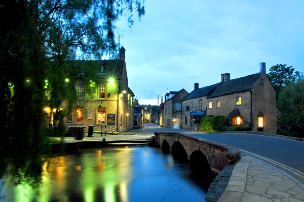 Bourton on the Water Cotswolds Gloucestershire Canvas print by Andy Evans Photos