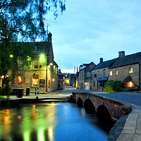 Buy canvas prints of Bourton on the Water Cotswolds Gloucestershire by Andy Evans Photos