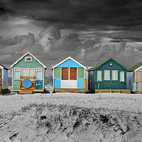 Buy canvas prints of Beach Huts Hengistbury Head Bournemouth Dorset by Andy Evans Photos