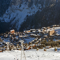 Buy canvas prints of Courchevel 1850 3 Valleys French Alps France by Andy Evans Photos