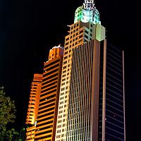 Buy canvas prints of New York New York Hotel Las Vegas America by Andy Evans Photos