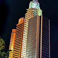 Buy canvas prints of New York New York Hotel Las Vegas America by Andy Evans Photos