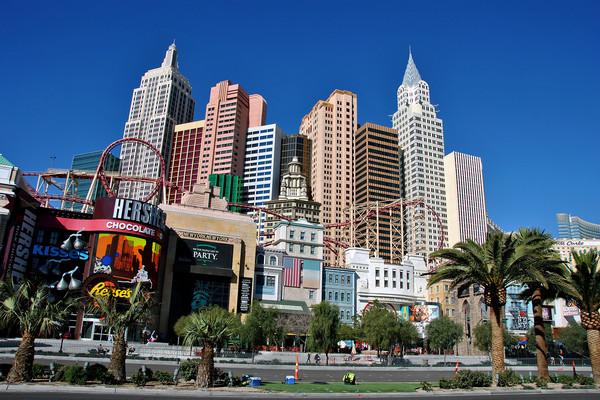 New York New York Las Vegas America Framed Mounted Print by Andy Evans Photos