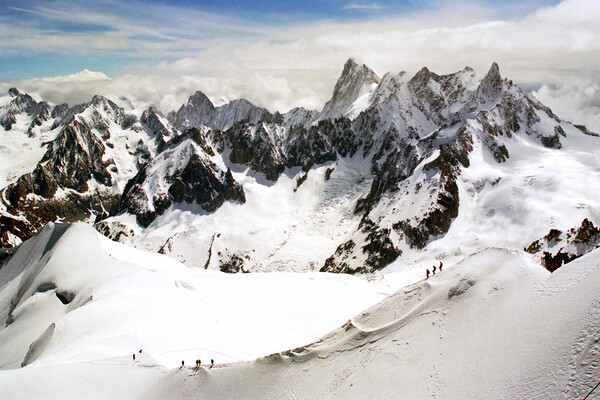 Chamonix Aiguille du Midi French Alps France Canvas Print by Andy Evans Photos
