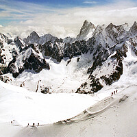 Buy canvas prints of Chamonix Aiguille du Midi French Alps France by Andy Evans Photos