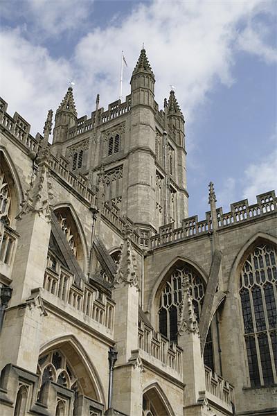 Cathedral in Bath Canvas print by anne lyubareva