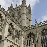 Buy canvas prints of Cathedral in Bath by anne lyubareva