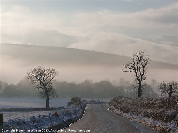 The Road to Finzean 2 Canvas Print by Jennifer Watson