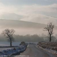Buy canvas prints of The Road to Finzean 2 by Jennifer Watson