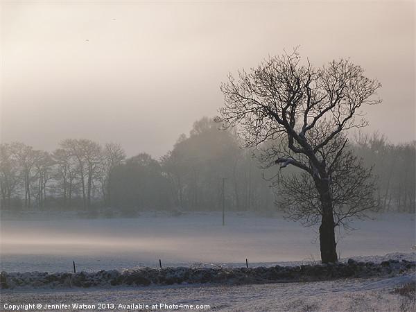 Misty Tree Canvas Print by Jennifer Watson