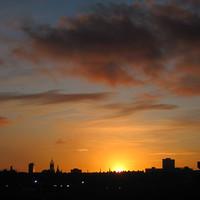 Buy canvas prints of Aberdeen Skyline at Sunset by Jennifer Watson