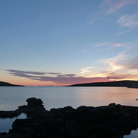 Buy canvas prints of  Sunset from Big Sand by Jennifer Watson