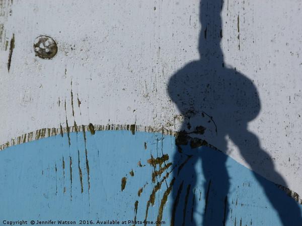 Knotty shadow Canvas print by Jennifer Watson