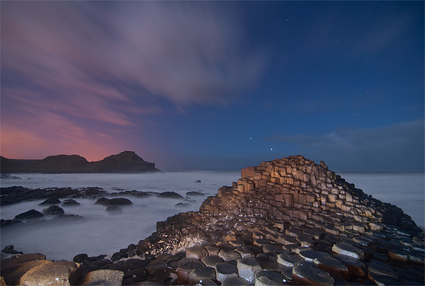 Giants Causeway at Night Canvas print by Paul Martin