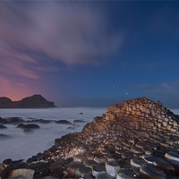 Buy canvas prints of Giants Causeway at Night by Paul Martin