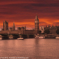 Buy canvas prints of Londons Burning by Michelle Orai