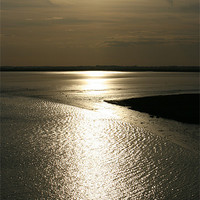 Buy canvas prints of sunset over breydon water by dennis brown