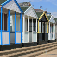 Buy canvas prints of Beach huts by dennis brown