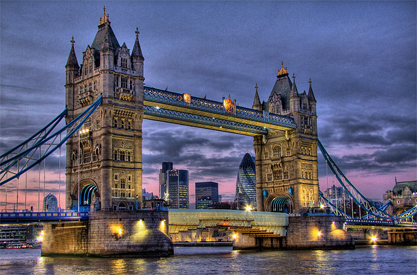 Tower Bridge And The City Acrylic by Colin J Williams Photography