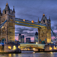 Buy canvas prints of Tower Bridge And The City by Colin J Williams Photography