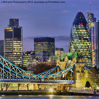 Buy canvas prints of The City Of London by Colin J Williams Photography