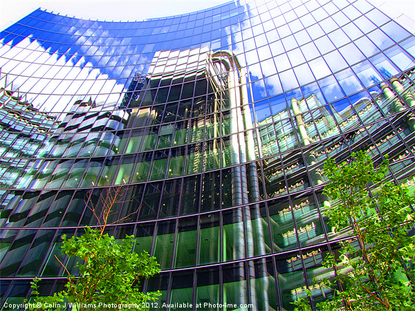 Reflections - The Willis Building - London Canvas print by Colin J Williams Photography