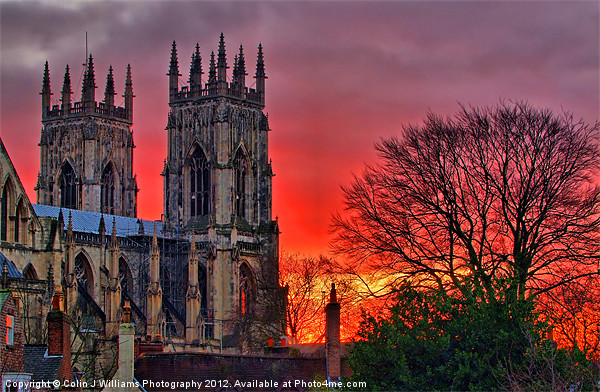 York Minster Sunset Acrylic by Colin J Williams Photography