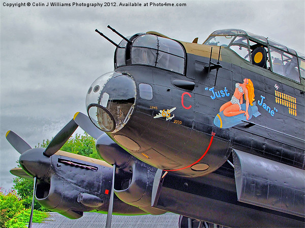 Lancaster - Just Jane Canvas Print by Colin J Williams Photography